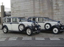 Vintage wedding car hire in Southsea